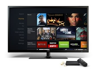 AmazonFireTV next to television