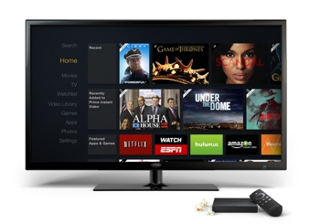 AmazonFireTV next to television