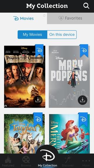 Disney Movies Anywhere screenshot