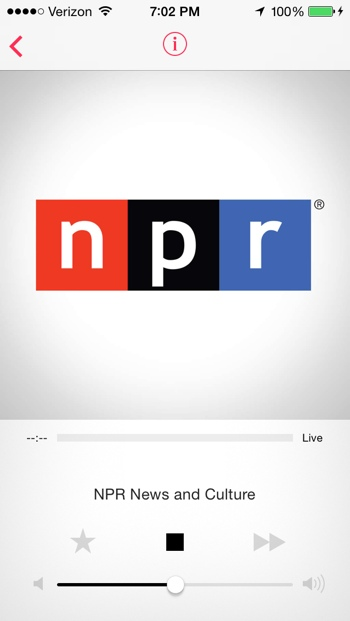 NPR iTunes Radio