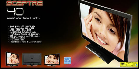 Sceptre 40-inch class HDTV