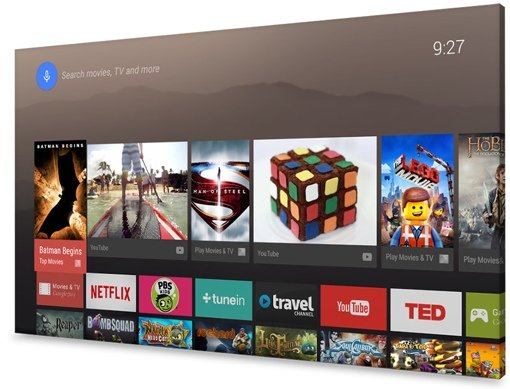 Android TV interface