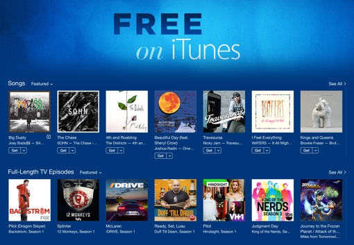 what songs are free on itunes