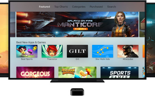 Apple TV Adds Top Charts; Games Lead List of Paid Apps