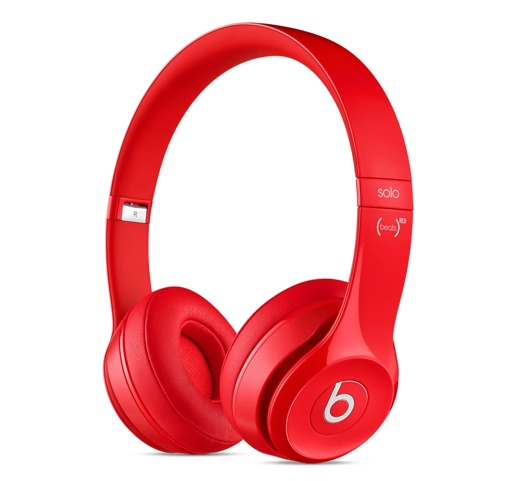 Beats Solo2 Headphones (Gloss Red)