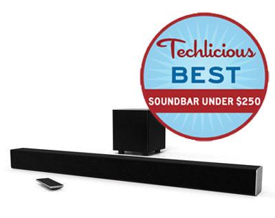 Techlicious Picks: The Best Soundbar Under $250: Vizio SB3821-D6