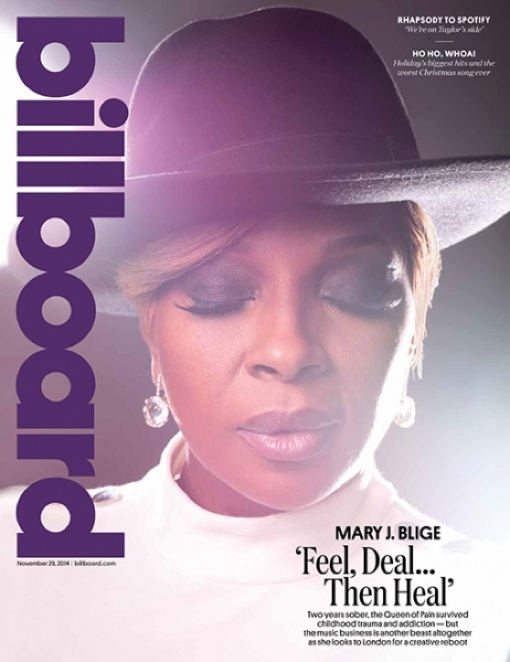 Billboard Nov. 29 cover with Mary J. Blige