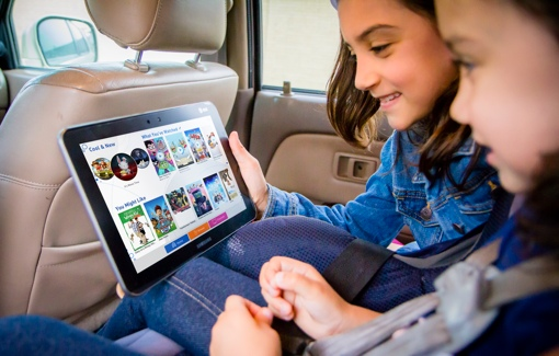 Kids using AT&T All in One service with DIRECTV