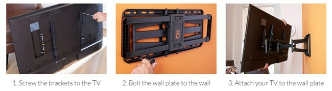 ECHOGEAR TV mount install