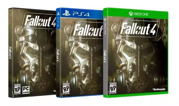 Fallout 4 game boxes