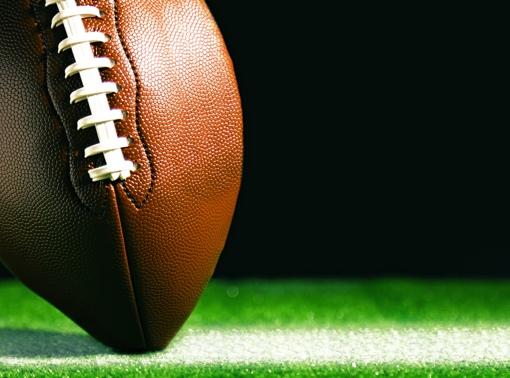 Football on yard line
