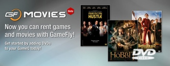 GameFly Movies splash