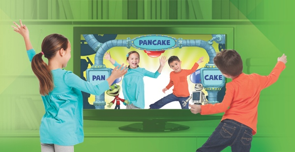 Kids using LeapTV