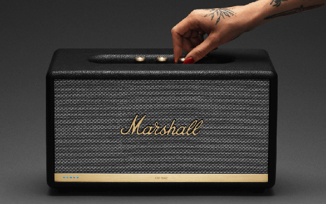 Best Bluetooth speaker design: Marshall Stanmore II Voice