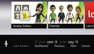 Microsoft Kinect Voice