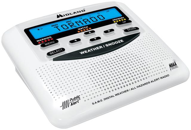 Midland WR120 weather radio and alarm clock