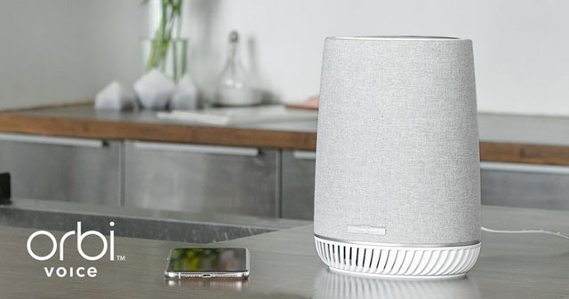 Negear Orbi Mesh Wi-Fi System with Orbi Voice Smart Speaker