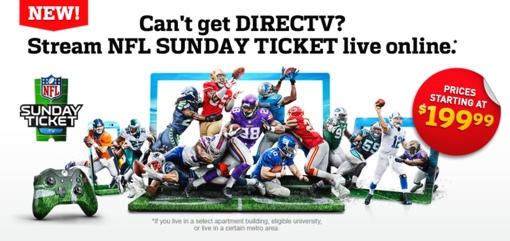 NFL Sunday Ticket $199 stream