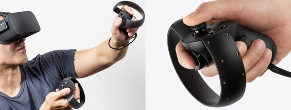 Oculus Rift controlled by Oculus Touch