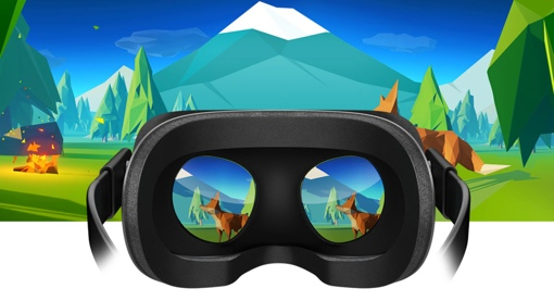 Oculus Rift headset w/Fox concept game