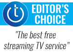 Techlicious Editor's Choice logo with quote: The best free streaming TV service
