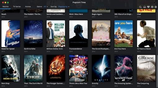 Popcorn Time app screenshot