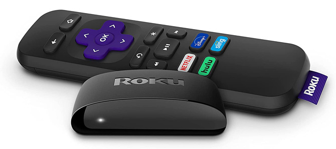 Roku Express image showing the streaming box and remote