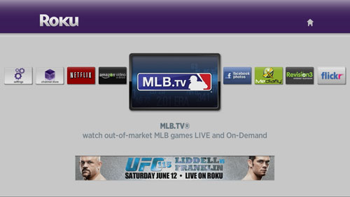 Roku MLB screen shot