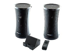 Sabrent Weather Resistant 900MHz Wireless Indoor/Outdoor 150 FT 2 Speaker System with Remote and Dual Power Transmitter