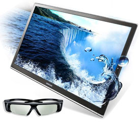 Samsung 3D TV and glasses