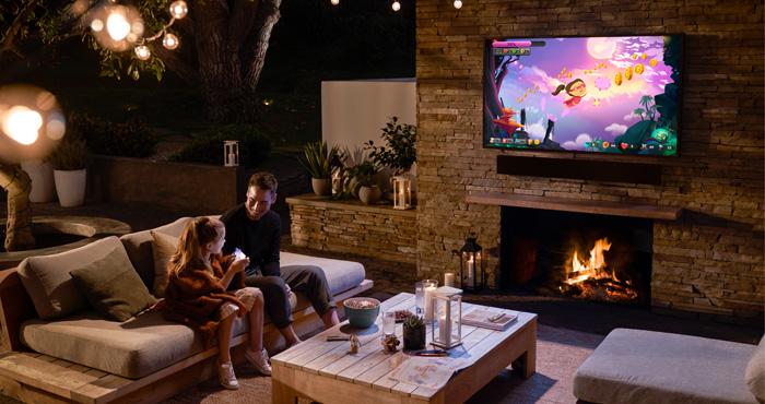 Samsung Giving Away Outdoor 'Terrace' 4K TV & Half-Remote, Half-Spatula