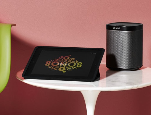 Sonos Speaker with tablet