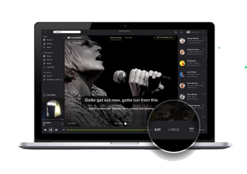 Spotify Lyrics button