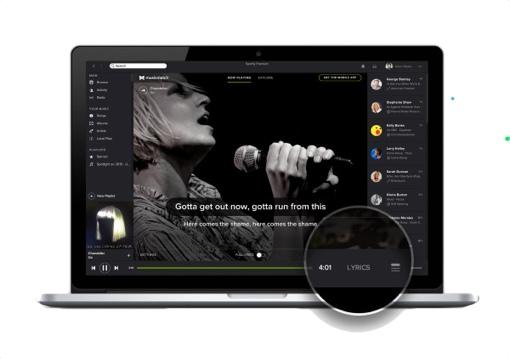Spotify Lyrics button