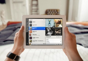 Spotify on an iPad