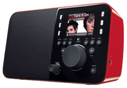 Logittech Squeezebox radio red