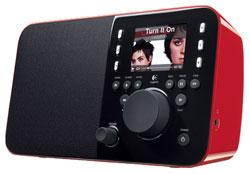 Logittech Squeezebox radio red