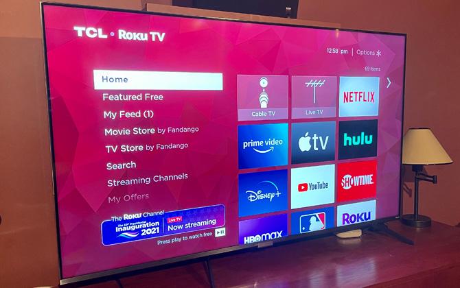 TCL 6-Series Roku interface
