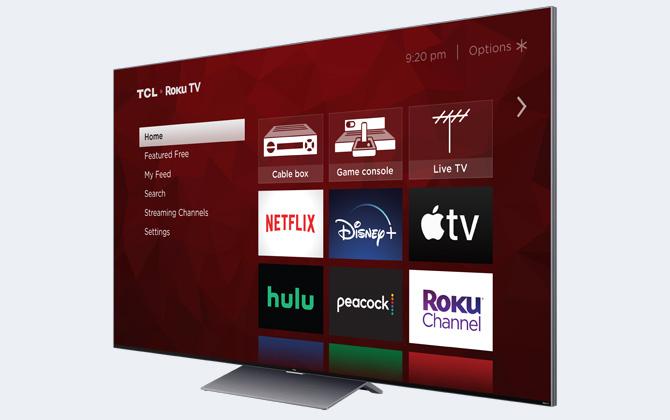 TCL 6 Series TCL Roku TV (model R648)