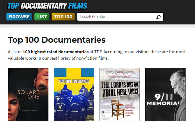 Top Documentary Films