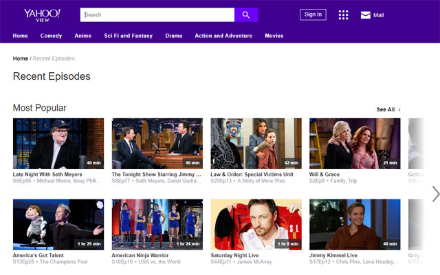 streaming websites for tv shows