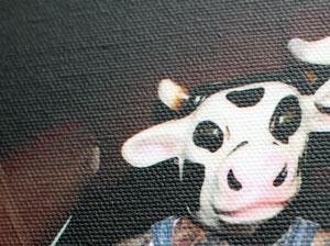 Cow canvas detail