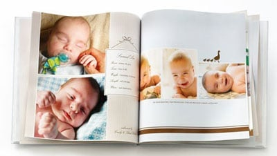 Create baby first year photo book