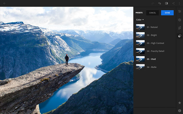 Best premium features: Adobe Photoshop Lightroom CC