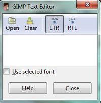 GIMP text input