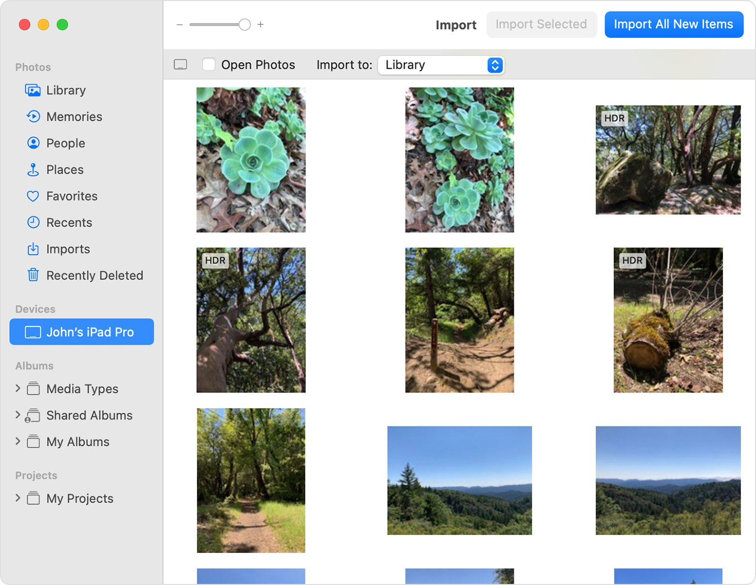 Import to iPhotos to the Photos app on Mac