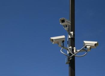 Mounted surveillance cameras