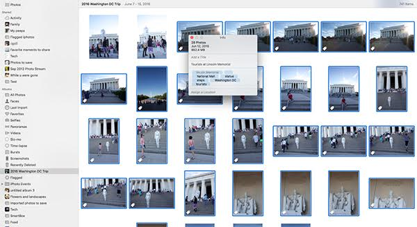 Add keywords. This is essential for quickly finding photos in the future.