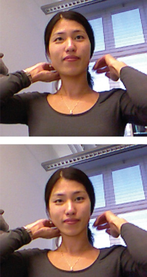 Skype with Kinect, before and after