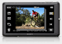 Sony Cybershot TX7 touchscreen